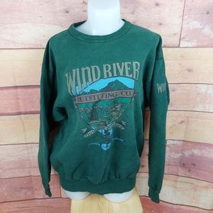 Vintage oversized crew neck Wind River sweater